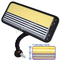 PDR лампа 420/200мм, 5полос, желто-полосатый экран. Арт 2.6.55